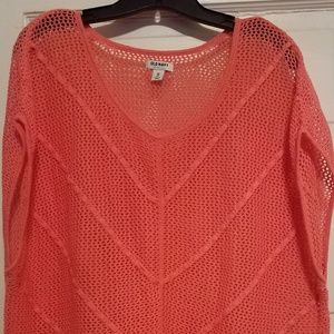 Coral knit top